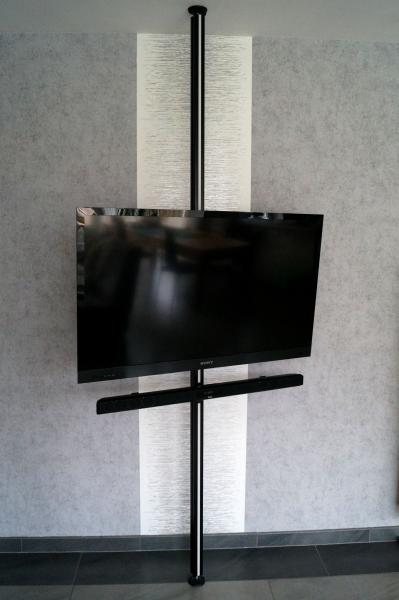 tv stangen tv halterungen aufstehhilfen boden decken stangen tv s ulen soundbar halterung. Black Bedroom Furniture Sets. Home Design Ideas