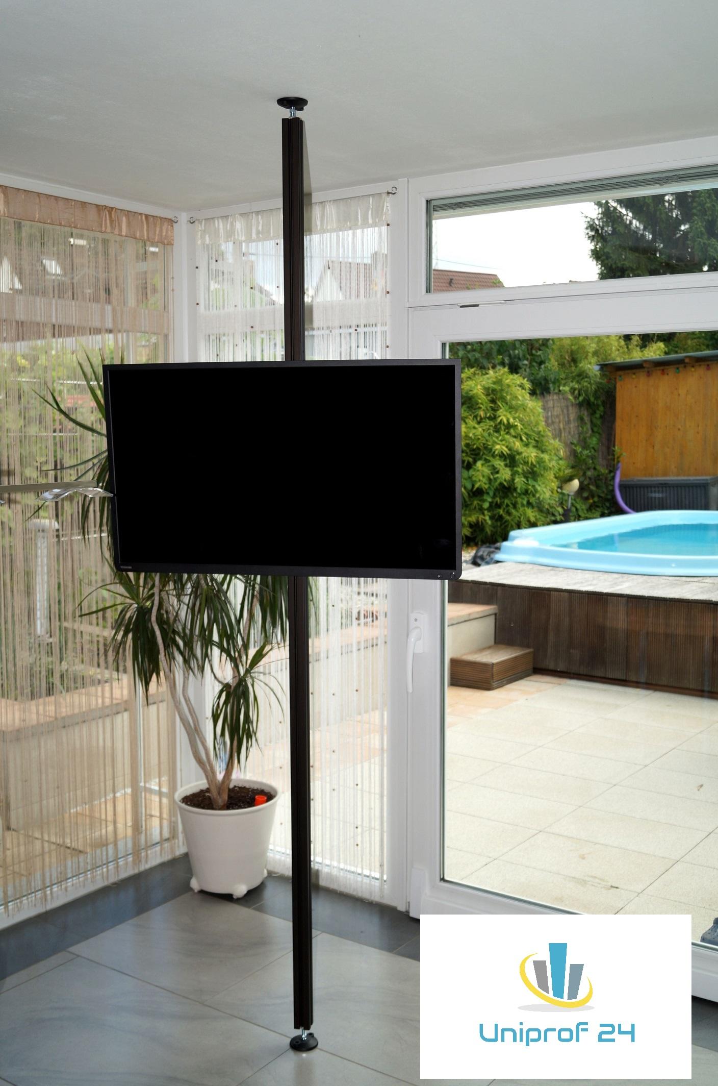 tv stangen tv halterungen aufstehhilfen boden decken. Black Bedroom Furniture Sets. Home Design Ideas
