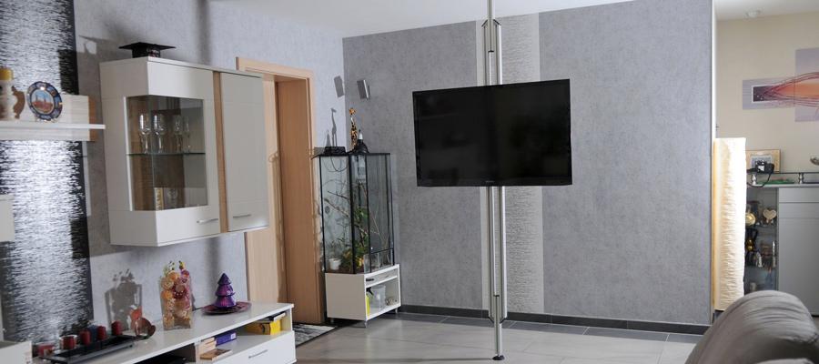 TV-Stangen, TV Halterungen, Aufstehhilfen, Boden-Decken ...